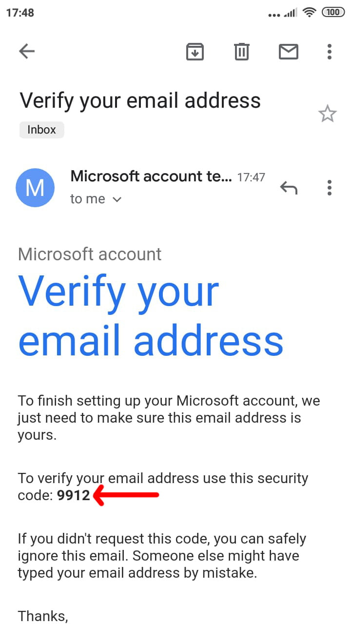 Img 5: Find the verification email in you inbox and copy the code.